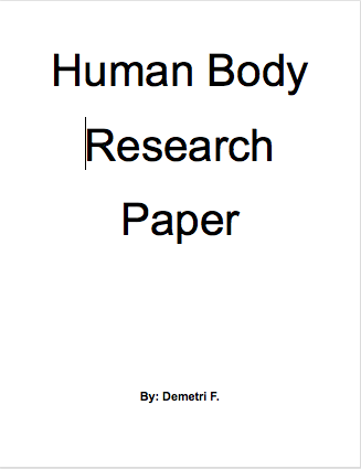 body of research essay